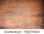 copper texture or bronze ... | Shutterstock . vector #758273563
