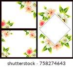 vintage delicate invitation... | Shutterstock .eps vector #758274643