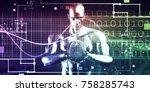 business investment... | Shutterstock . vector #758285743