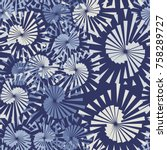 seamless pattern of pentagonal... | Shutterstock .eps vector #758289727