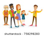an organized group of... | Shutterstock .eps vector #758298283
