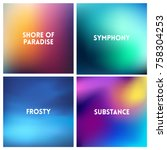 abstract vector multicolored... | Shutterstock .eps vector #758304253