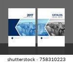 corporate cover design for... | Shutterstock .eps vector #758310223