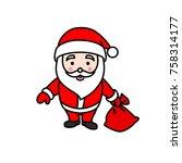 vector illustration of santa...   Shutterstock .eps vector #758314177