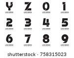 modern minimal vector logo for... | Shutterstock .eps vector #758315023