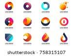 modern minimal vector logo for...   Shutterstock .eps vector #758315107