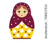russian national doll  ... | Shutterstock .eps vector #758317513