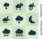 climate icons set with...   Shutterstock .eps vector #758332513