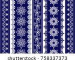 set of lace bohemian seamless...   Shutterstock .eps vector #758337373