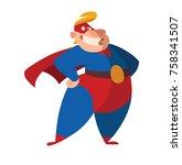 vector cartoon image of a funny ... | Shutterstock .eps vector #758341507