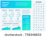 industry infographic template ... | Shutterstock .eps vector #758348833