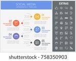 social media infographic... | Shutterstock .eps vector #758350903
