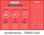 medicine infographic template ... | Shutterstock .eps vector #758351143
