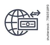 wire transfer icon   Shutterstock .eps vector #758351893