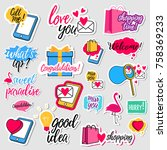 collection of flat design... | Shutterstock .eps vector #758369233