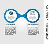 infographics circular vector...   Shutterstock .eps vector #758384197