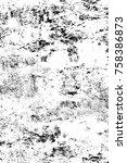 grunge black and white seamless ... | Shutterstock . vector #758386873