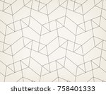 abstract geometric pattern with ... | Shutterstock .eps vector #758401333