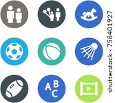 origami corner style icon set   ... | Shutterstock .eps vector #758401927