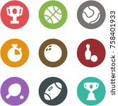 origami corner style icon set   ... | Shutterstock .eps vector #758401933