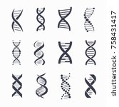 dna different icons set  a... | Shutterstock .eps vector #758431417