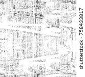 grunge black and white seamless ... | Shutterstock . vector #758433817