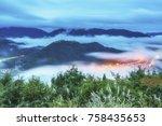 takeda castle ruins  floating...   Shutterstock . vector #758435653