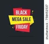 big sale black friday background | Shutterstock .eps vector #758452537