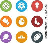 origami corner style icon set   ... | Shutterstock .eps vector #758465023