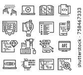 vector code  programming icon... | Shutterstock .eps vector #758467333