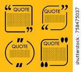 trendy block quote modern...   Shutterstock .eps vector #758475037
