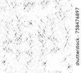grunge black and white seamless ... | Shutterstock . vector #758476897