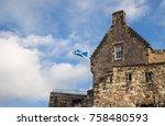 half moon battery of edinburgh...   Shutterstock . vector #758480593