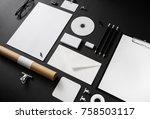 photo of blank stationery set... | Shutterstock . vector #758503117