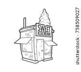 vector cute ice cream shop in...   Shutterstock .eps vector #758509027
