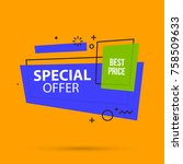 special offer banner template... | Shutterstock .eps vector #758509633