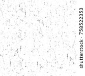 grunge black and white seamless ... | Shutterstock . vector #758522353