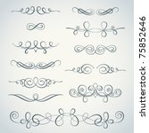 vector flourishes collection | Shutterstock .eps vector #75852646