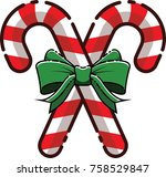 mbe style candy cane with... | Shutterstock .eps vector #758529847