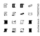 scrolls and papers icons  ...   Shutterstock .eps vector #758550763