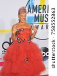pink at the 2017 american music ... | Shutterstock . vector #758552863
