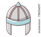 knight helmet guard icon....   Shutterstock .eps vector #758556097
