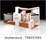 exhibition stand modern design... | Shutterstock . vector #758557093