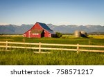 Summer Evening With A Red Barn...