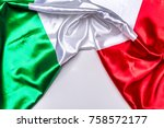 authentic flag of the italy   Shutterstock . vector #758572177