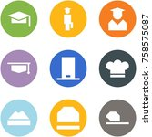 origami corner style icon set   ... | Shutterstock .eps vector #758575087
