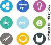 origami corner style icon set   ... | Shutterstock .eps vector #758576023