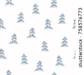 seamless vector pattern with... | Shutterstock .eps vector #758576773