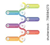 template timeline infographic... | Shutterstock .eps vector #758584273