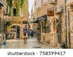 budva  montenegro   august 20 ... | Shutterstock . vector #758599417